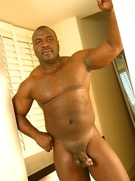 Big ebony man Allen Ray