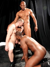 Nubius, Ryan Russell and Montaz - interracial threesome