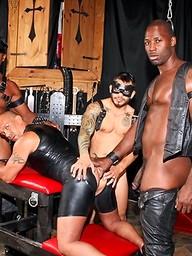Nubius, Luc Bonay, Draven Torres and Aron Ridge - interracial foursome in a cave