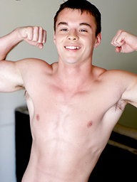 Teen Jock Brandon Stone First Time Jerking on Camera
