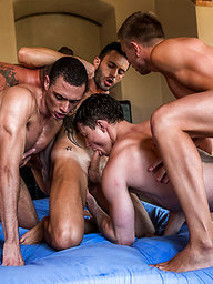 Ruslan Angelo's Five-man Bareback Orgy